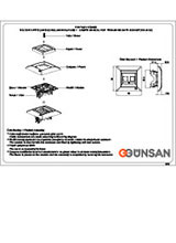 Gunsan Visage 2 voies Interrupteur UP Noir 01283400150107